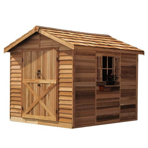 shop cedarshed common 8 ft x 10 ft interior dimensions
