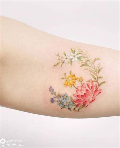 flower tattoo color small tattoo pinterest 25 best ideas about delicate flower tattoo on pinterest