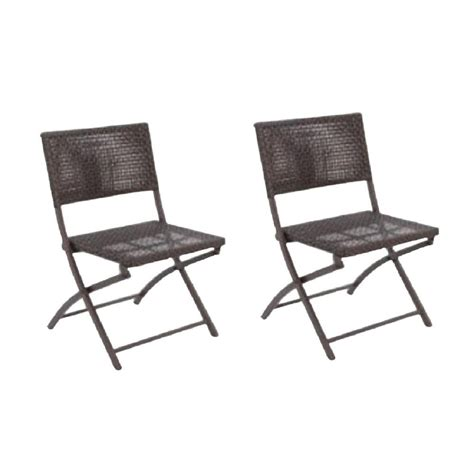 Woven Patio Chairs Hton Bay Chairs Fairplay Folding Woven Patio Chair 2 Pack