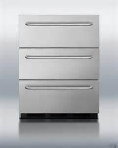 summit spf5dsstbada 24 quot drawer freezer with easy