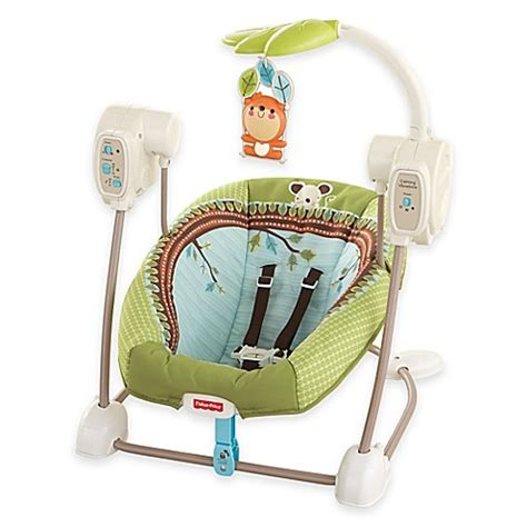 fisher price swing n seat forest fun buy fisher price 174 swing n seat in forest fun from bed