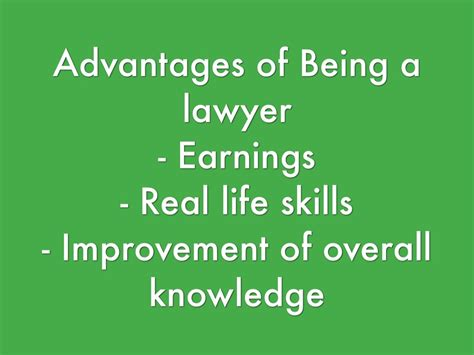 9 Advantages Of Being by Lawyer By Keller Chavez