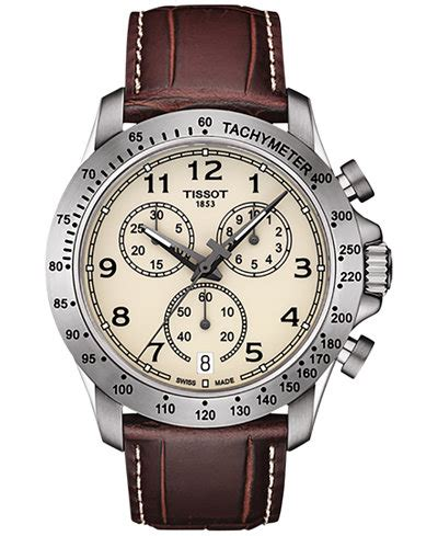 Tissot V8 T1064171105100 Swiss Made Original tissot s swiss chronograph v8 brown leather 42mm t1064171626200 watches