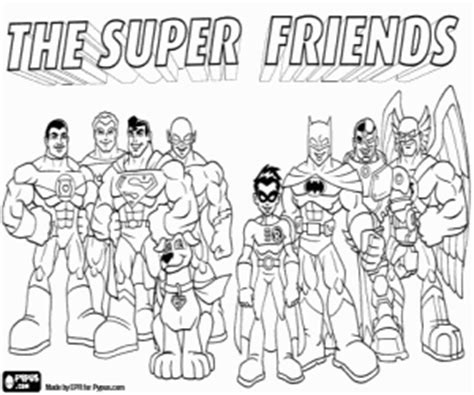 super friends coloring pages printable games