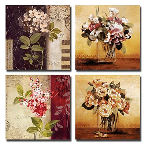 Vintage Decor Vintage Wall Poster framed vintage retro flowers nature canvas prints picture wall home decor ebay