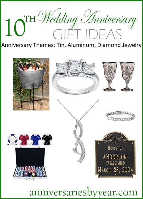 10 Year Anniversary Gift For Jewelry - best 25 10th anniversary gifts ideas on 10
