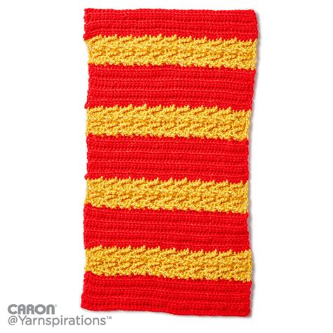 caron yarn website pattern is cn0986 caron school colors crochet afghan crochet pattern