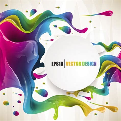 colorful posters colorful ink vector posters