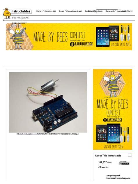 tutorial arduino español pdf the tutorial on motors pdf arduino transistor
