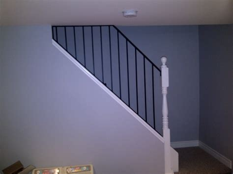 basement stairs railing stair railing pictures pics 75