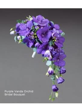 Bridal Flowers Near Me by Purple Vanda Orchid Bridal Bouquet Dundee Flowers