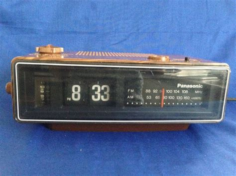 Alarm G Forces 1970 s panasonic rc 6030 flip tile wood grain am fm electric alarm clock radio vintage bedroom