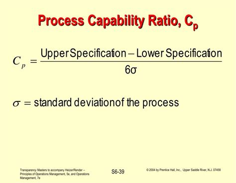 supplement 6 statistical process ppt operations management statistical process