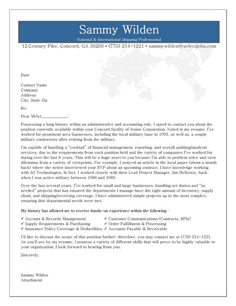 information technology it cover letter resume genius