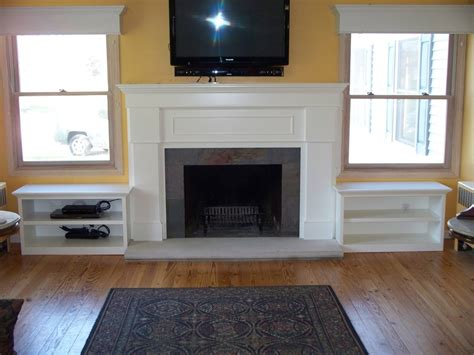 Fireplace Mantel With Shelves On Side by Fireplace Surround With Side Shelves By Garyl