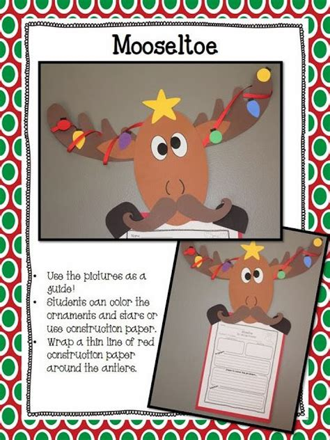 xmas craft 2nd grade 37 best mooseltoe images on activities ideas and school holidays