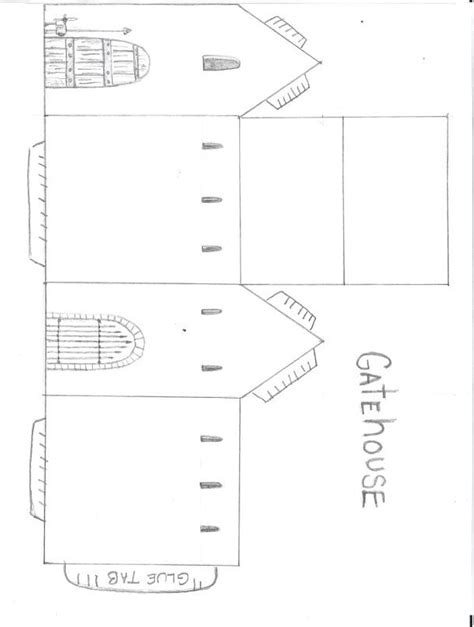 castle template paper castle cut out castle cut out template