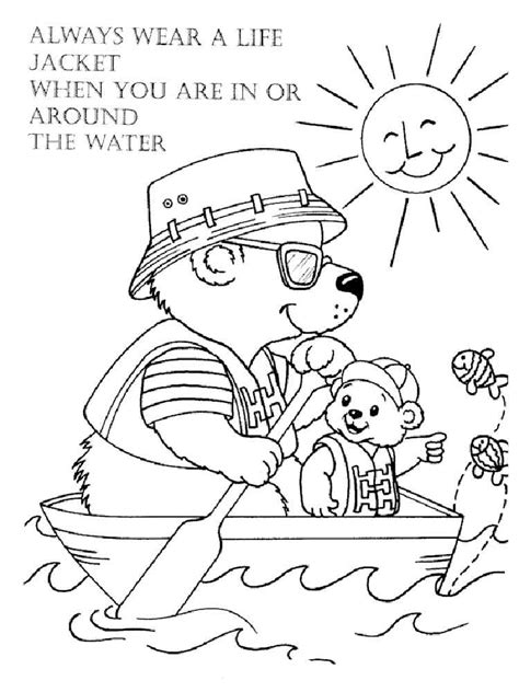 coloring pages water safety water safety coloring pages free printable water safety