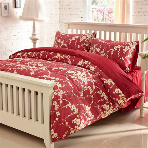 ikea red and white bedding 2015 new ikea style 5 hotel tribute silk bedding set size cotton duvet