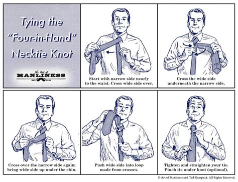 how to tie a tie diagram how to tie a four in necktie knot agreeordie
