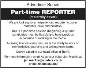 Jobs With Flexible Hours by The Turriff Advertiser Is Looking For A Part Time Reporter