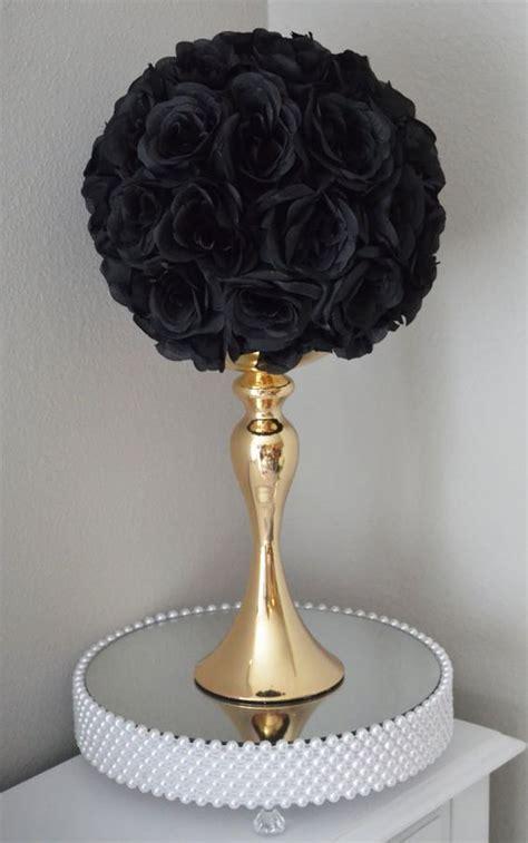 black kissing ball black wedding centerpiece black