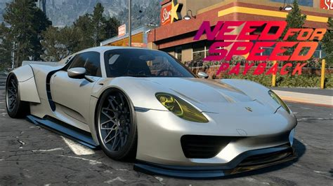 widebody porsche 918 need for speed payback porsche 918 spyder customization