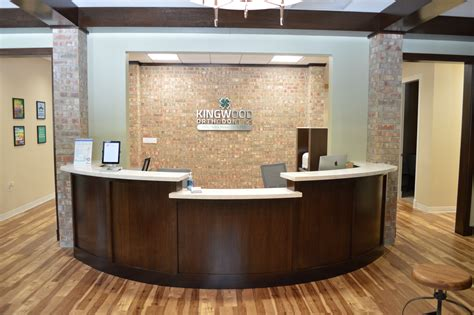 reception area desks office tour kingwood orthodontics