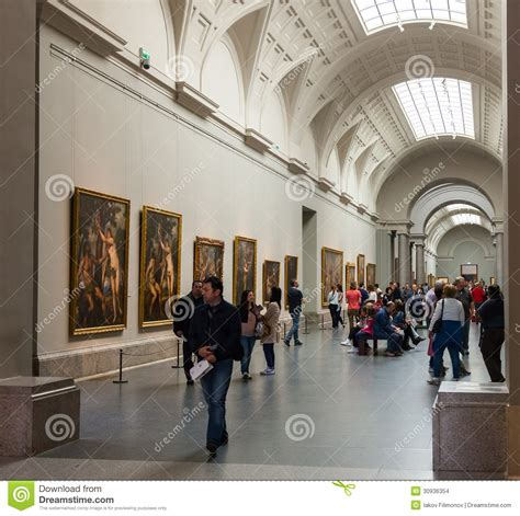 interior  prado museum madrid editorial stock image
