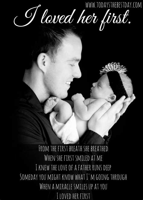 """""""I loved her first"""" Nothing is more precious than a dad"""