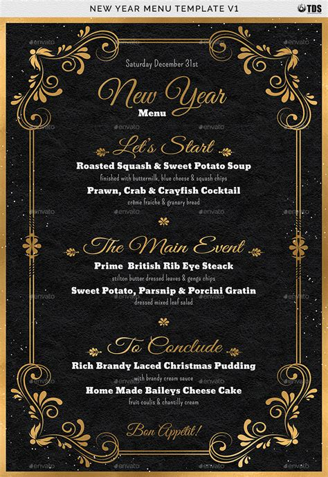 new year template new year menu template v1 by lou606 graphicriver