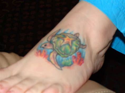 turtle foot tattoo