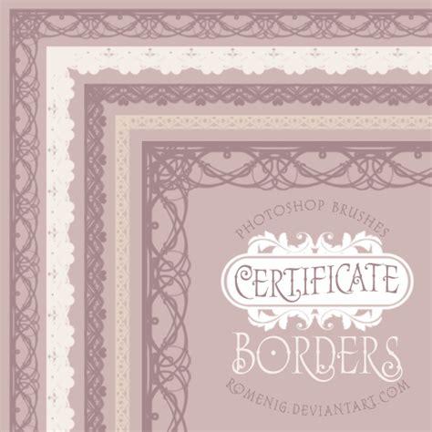 certificate design brushes photoshop certificate borders brush set by romenig on deviantart