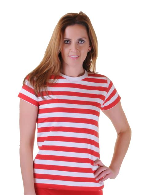 Claires Stiped T Shirt mens blue white striped t shirt book week vest womens tops ebay
