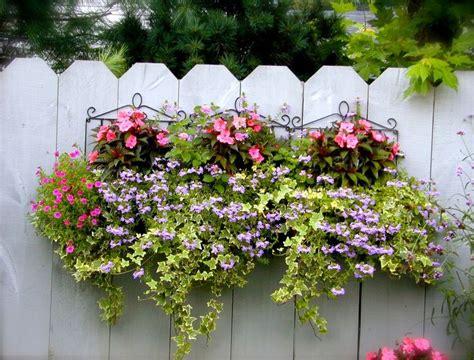 Beautiful Planters by Beautiful Planter On A Fence Backyard