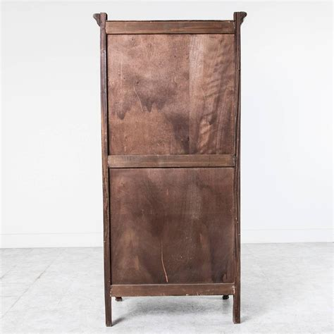 single door armoire solid french walnut louis xv style bonnetiere single door