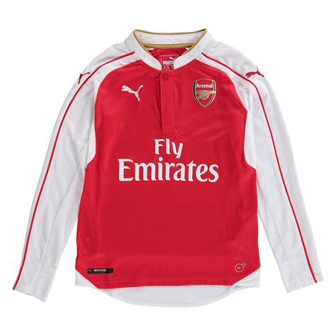Tees Arsenal Logo Original arsenal boys home shirt 2015 16 sleeve