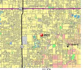 gilbert arizona zip code map gilbert az zip code map