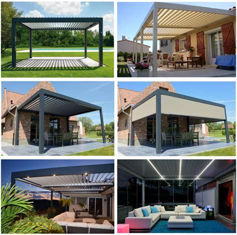 aluminium motorized roof pergola louvers for balcony buy