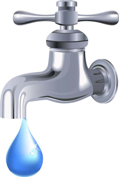 Water Faucet Vector by Water Tap And Water Drop Background Vector 04 Vector