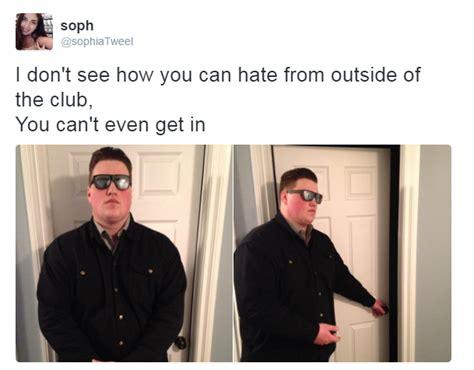 Bouncer Meme - door opening meme sanitary door opener