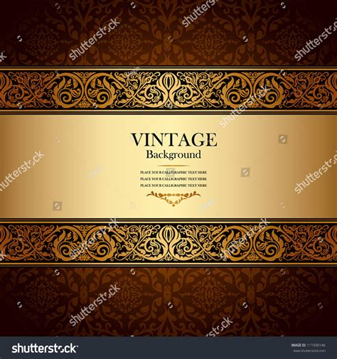 ornate vintage template background vector 04 over vintage background antique victorian gold ornament stock
