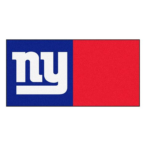 Green Bay Packers Home Decor by Fanmats Nfl New York Giants Blue And Red Nylon 18 In X