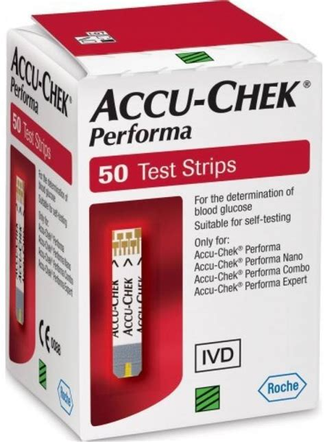 Accu Check Performa Isi 50 accu chek performa 50 strips only for performa glucometer available at flipkart for rs 625