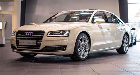 Audi A8 Forum by Audi Forum Neckarsulm Hosts Magnolia White A8 L Exclusive