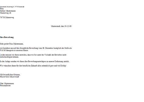 Musterbrief Auf Französisch Absage An Einen Ungeeigneten Bewerber Hotel Lexikon