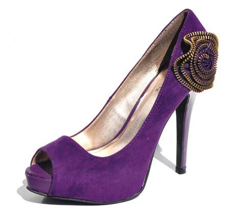 qupid purple open toe womens high heel evening dress