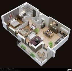 cuisine plan m plain pied plan villa moderne 3d