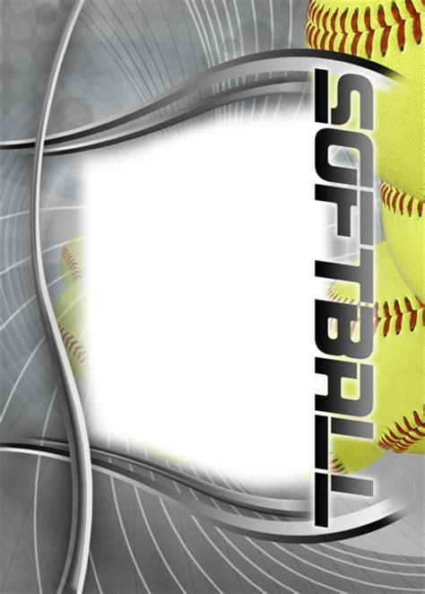 softball card template softball photo templates