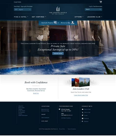best homepage design inspiration luxury hotels and resorts leading hotels of the world